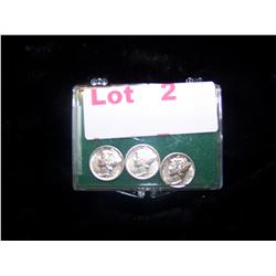 a 3 Pack of Choice Silver Mercury Dimes