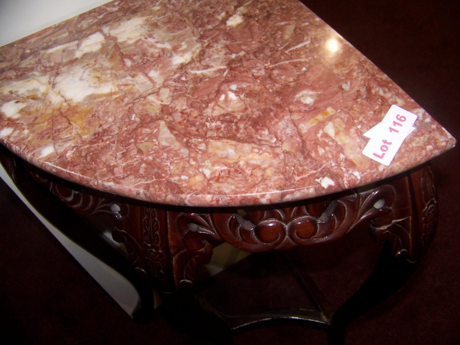 Amazing ... Image 2 : Marble Top Corner Table ...