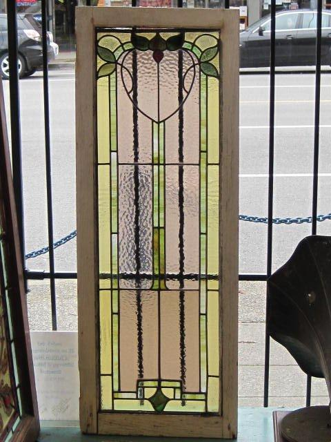 Arts and crafts single stained glass panel ca 1915 18 w for Arts and crafts glass