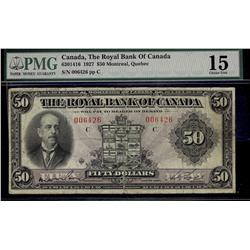 The Royal Bank of Canada, 1927 $50 #006426 CH-630-14-16. PMG F15.