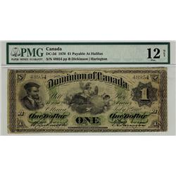 1870 $1 DC-2d #48954, PMG F12 NET An affordable example. Corner Re-Attached. Rare.