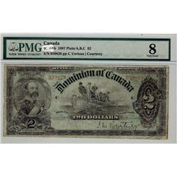 Dominion of Canada, 1897 $2 DC-14a #059829, PMG VG8.  Probably washed in the past.