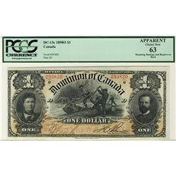 Dominion of Canada, 1898 $1 DC-13c #293820, PCGS UNC63.  A choice Uncirculated with some very light