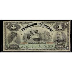 1902 DC-17a $4  055906 Courtney, 4's at top a lovely Fine example perhaps better.  A scarce issue.
