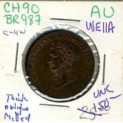 Breton: 987 CH: WE-11A Choice Unc. With red lustre.