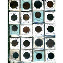 Nova scotia.  Breton 962, 963, 965. Grades vary from Good to VF.  Should be viewed. (37 pieces)