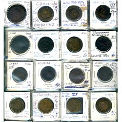 Lower Canada.  Breton 960, 961. Grades vary from Good to VF.  Should be viewed. (52 pieces)