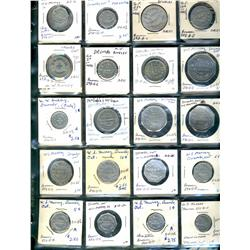 Ontario. Various dairy and merchant tokens from the following locals: Dresden, Drumbo.  (27 pieces)