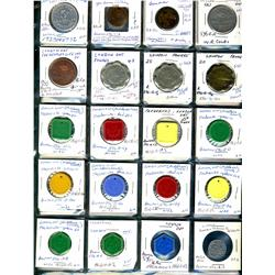 Ontario. Various dairy and merchant tokens from London.  (33 pieces)