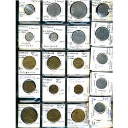 Ontario. Various dairy and merchant tokens from Otterville.  (25 pieces)