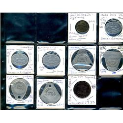 Ontario. Various dairy and merchant tokens from Owen Sound.  (9 pieces)