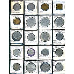 Ontario. Various dairy and merchant tokens from Port Rowan.  (34 pieces)