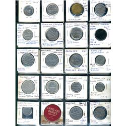 Ontario. Various dairy and merchant tokens from the following locals: Rockland, Rodney, Sarnia, Sava