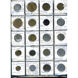 Ontario. Various dairy and merchant tokens from Toronto.  (104 pieces)
