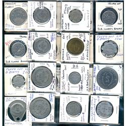 Ontario. Various dairy and merchant tokens from the following locals: Trenton, Trout Creek, Tweed, U