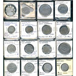 Ontario. Various dairy and merchant tokens from the following locals: Warwick, Waterdown, Waterford,