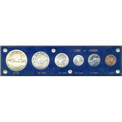 Mint set, 1954 SF, in Capital plastic holder.  An average set with brilliant coins.  The cent is ton