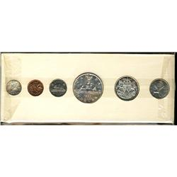 Proof-like set, 1957, original.  Coins are brilliant with light cameos.  The cent is full red and at