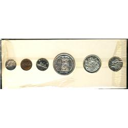 Proof-like set, 1958, in card.  An average set with lightly toned coins.  The cent is toned.