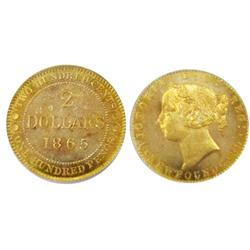 Nfld Gold 1865 $2 PCGS MS65.  Possibly the finest known.  A fabulous coin in pristine condition, don