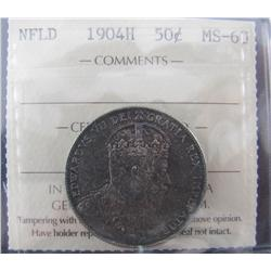 NFLD 1904H 50¢ ICCS MS60.  Lustre and intense tones.