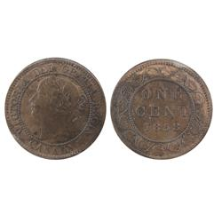 1858 1¢ ICCS MS60. Nice chocolate golden brown example with some lustre.