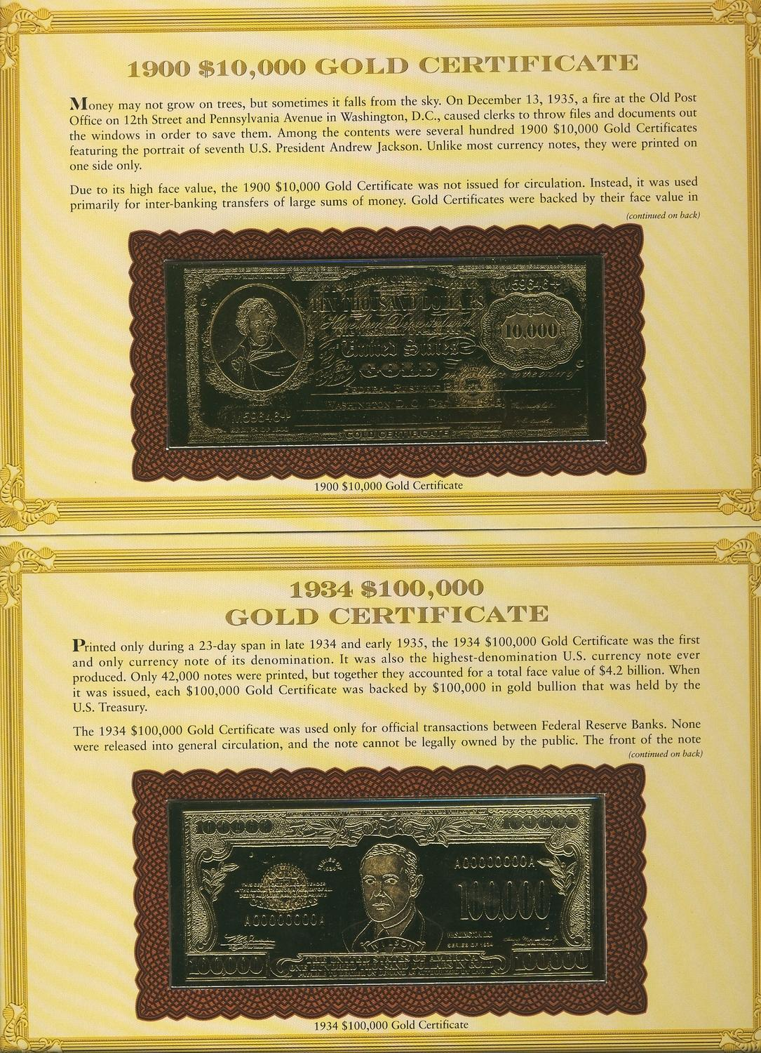 1934 100000 1900 10000 gold certificate replicas gold image 1 1934 100000 1900 10000 gold certificate replicas gold plated and issued 1betcityfo Gallery
