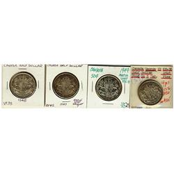 1946 Hoof, 1947 St. ML (2), 1948 50¢, F12 to VF20, 4 pieces.