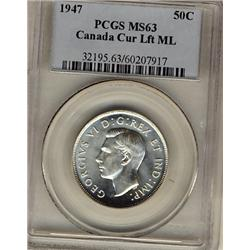 1947 St.7 Left ML 50¢ PCGS MS63, fully brilliant and lustrous.