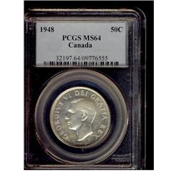 1948 50¢ PCGS MS64, lightly toned.