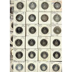 1960 - 1996 50¢ lot.  Group of 38 pieces.  Grades vary from PL64 to PL66