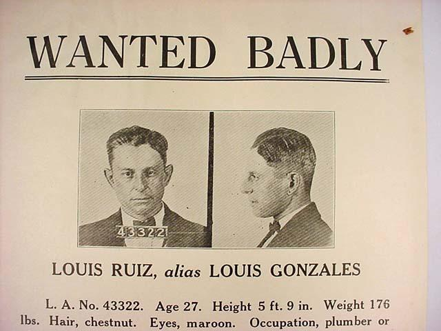 VINTAGE WANTED POSTER \