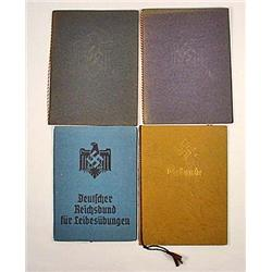 LOT OF 4 WW2 GERMAN NAZI DOCUMENTS