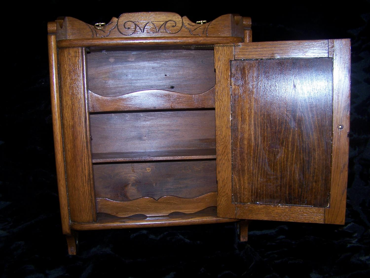 Charmant ... Image 2 : Antique Oak Medicine Cabinet