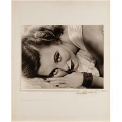 Michele Morgan oversize exhibition portrait by Ernest A. Bachrach