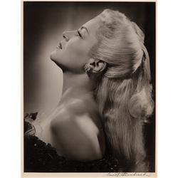 Claire Trevor oversize exhibition portrait from Johnny Angel by Ernest A. Bachrach