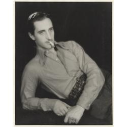 Basil Rathbone oversize gallery portrait from The Flirting Widow by Elmer Fryer