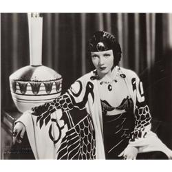Claudette Colbert mural portrait from Cleopatra for Dreams For Sale exhibit by Eugene Robert Richee