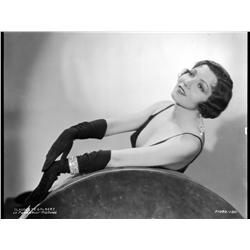 Claudet Colbert camera negative by Otto Dyar