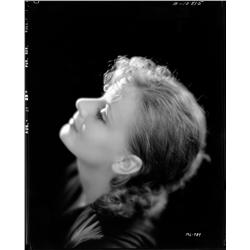Greta Garbo camera negative from The Kiss by Clarence Sinclair Bull