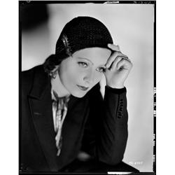 Greta Garbo camera negative from Anna Christie by Clarence Sinclair Bull