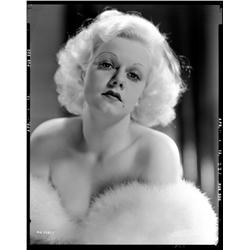 Jean Harlow camera negative from Hold Your Man  and Dinner at Eight by Harvey White