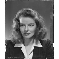 Katharine Hepburn camera negative from Woman of the Year by Clarence Sinclair Bull