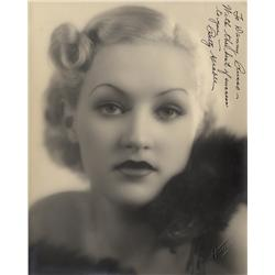 Signed vintage photo of a very young (ca. age 16) Betty Grable inscribed to band leader Danny Russo