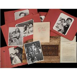 Personal and unique Rita Hayworth and Orson Welles family scrapbook for their daughter Rebecca