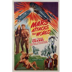 Mars Attacks the World one-sheet poster for the 1950 reissue