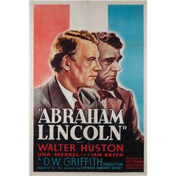 Abraham Lincoln one-sheet poster for the 1937 reissue