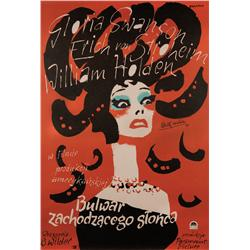 Sunset Boulevard Polish poster recreation signed by Billy Wilder