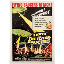 Earth vs. the Flying Saucers one-sheet poster