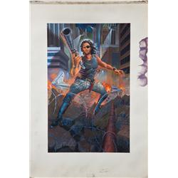 "Poster concept artwork of Kurt Russell ""Snake Plisskin"" from Escape from New York"